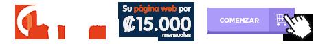 Su web por tan solo 15.000 colones mensuales